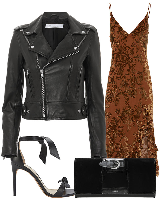3. The transitional leather jacket - Adding a leather jacket to a flowy dress is an effortless way to take your best summer looks into fall.