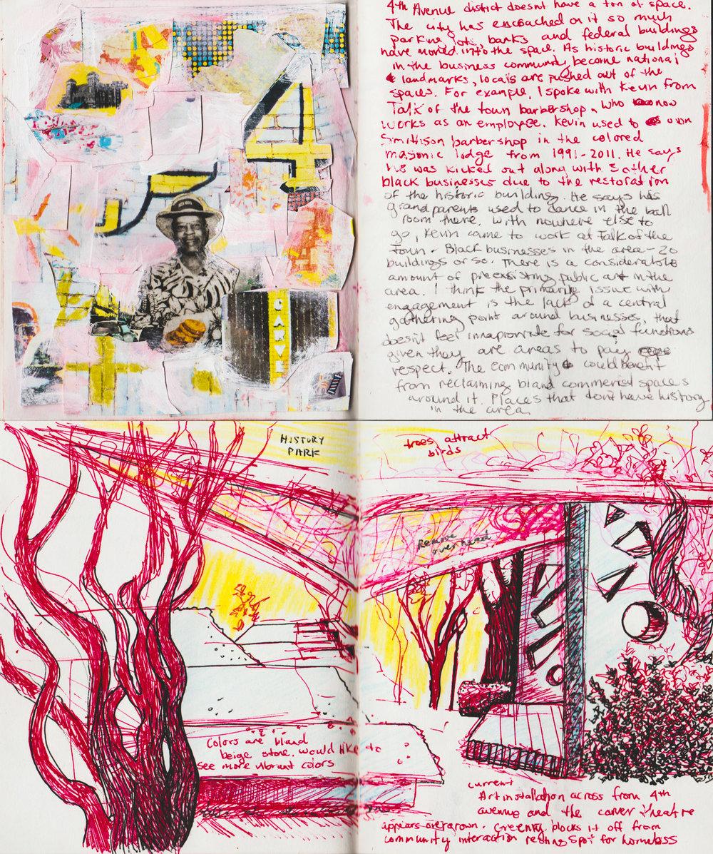 "Creativity and Imagination - Public Art Proposal, mixed media, 16"" x 16"""