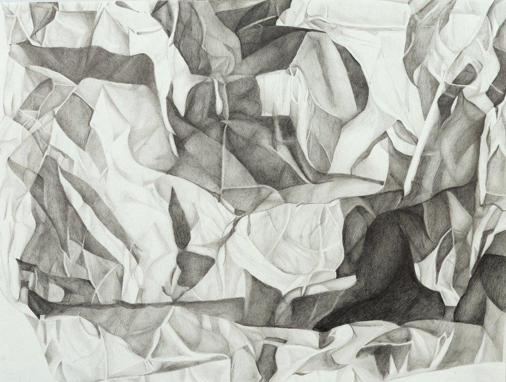 "Perceptual Drawing – Paper Pal Value Drawing, graphite, 18"" x 24"""
