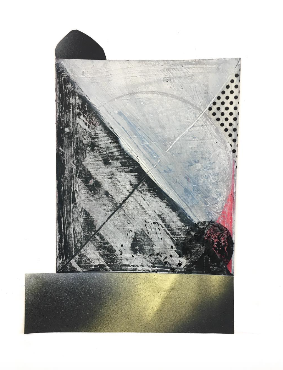 """Experimental Drawing and Sketchbook Development, collage, 11"""" x 8.5"""", 2018"""