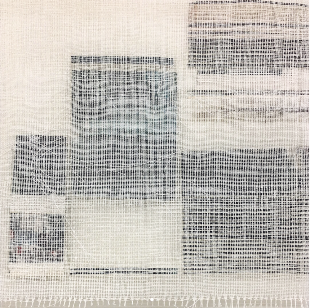 """Experimental Drawing and Sketchbook Development, paper/weaving, 18"""" x 13"""""""