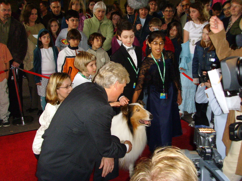 David on the 2006 TiFF Red Carpet With Lassie & Mayor David Miller.