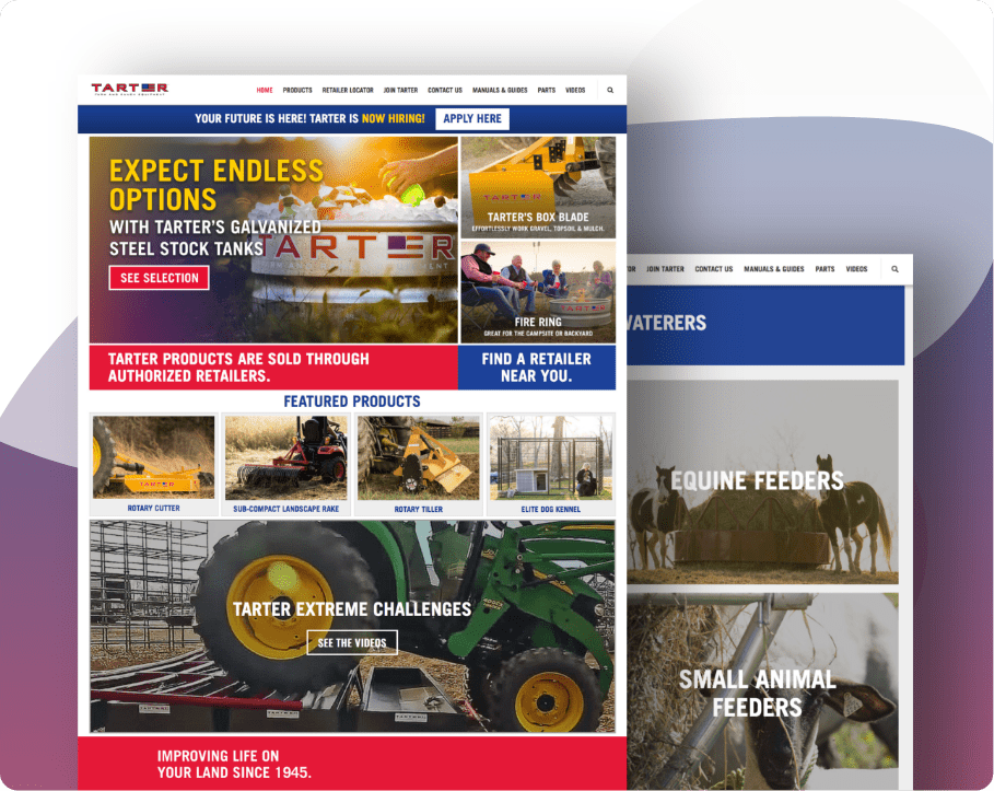 Tarter USA   One of the biggest USA companies that produce ranch and farm equipment.    Open the website