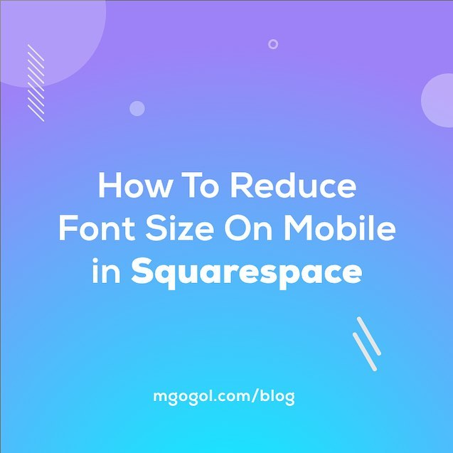 Although Squarespace is a platform that automatically builds a mobile version of the site, it's a common problem when the fonts on mobile devices look very small or too large. So, I've prepared the article where I explained how to fix this problem. Check the latest blog post in my bio.