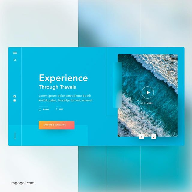 More practice with travel design and grid layouts. Inspired by an ocean. . #design #webdesign #ux #ui #work #uxuidesign #programmer #freelance #ai #adobeillustrator #digitalnomad #designlife #geek #creativity #webdesign2019 #designtrends #graphicdesign #ocean