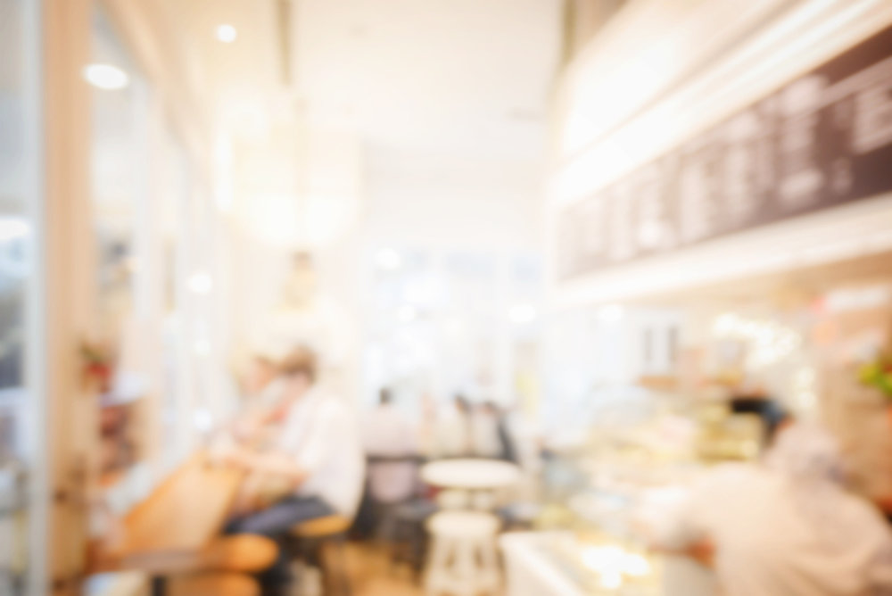 blur image of coffee shop background