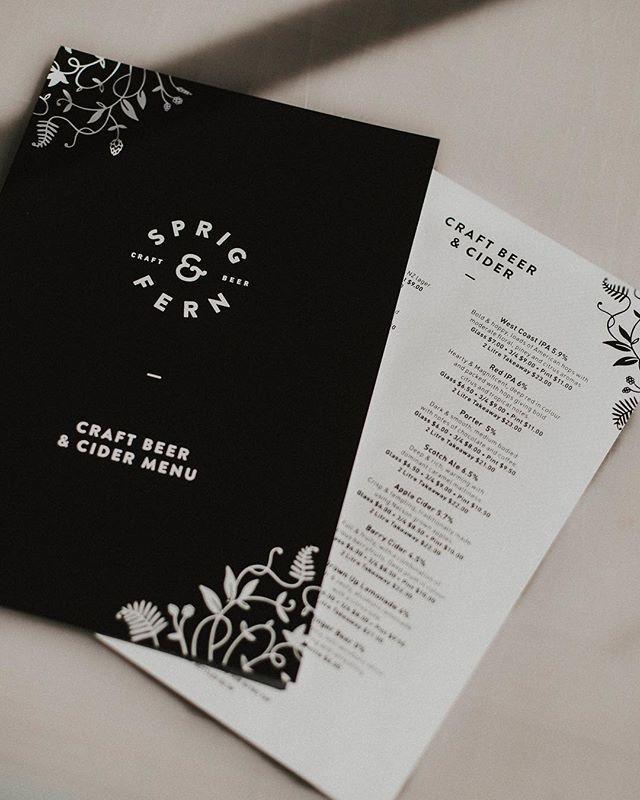Updated drink menus for our friends @sprigandfern