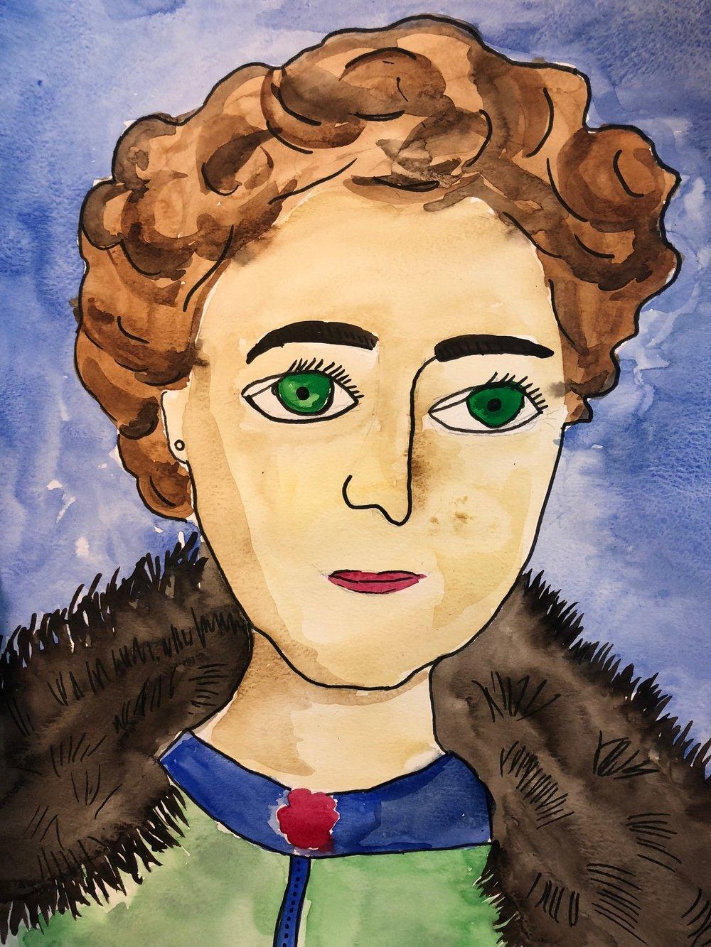 портрет Агаты Кристи от Анны Волковой