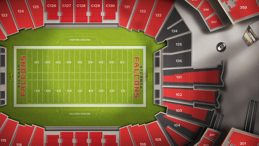 Highly detailed stadium maps