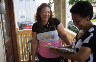 3. Engage in your community: - Register to vote or check that it's up to date.Volunteer in your communityVolunteer or work on a campaignRun for officeHost a screening in your community