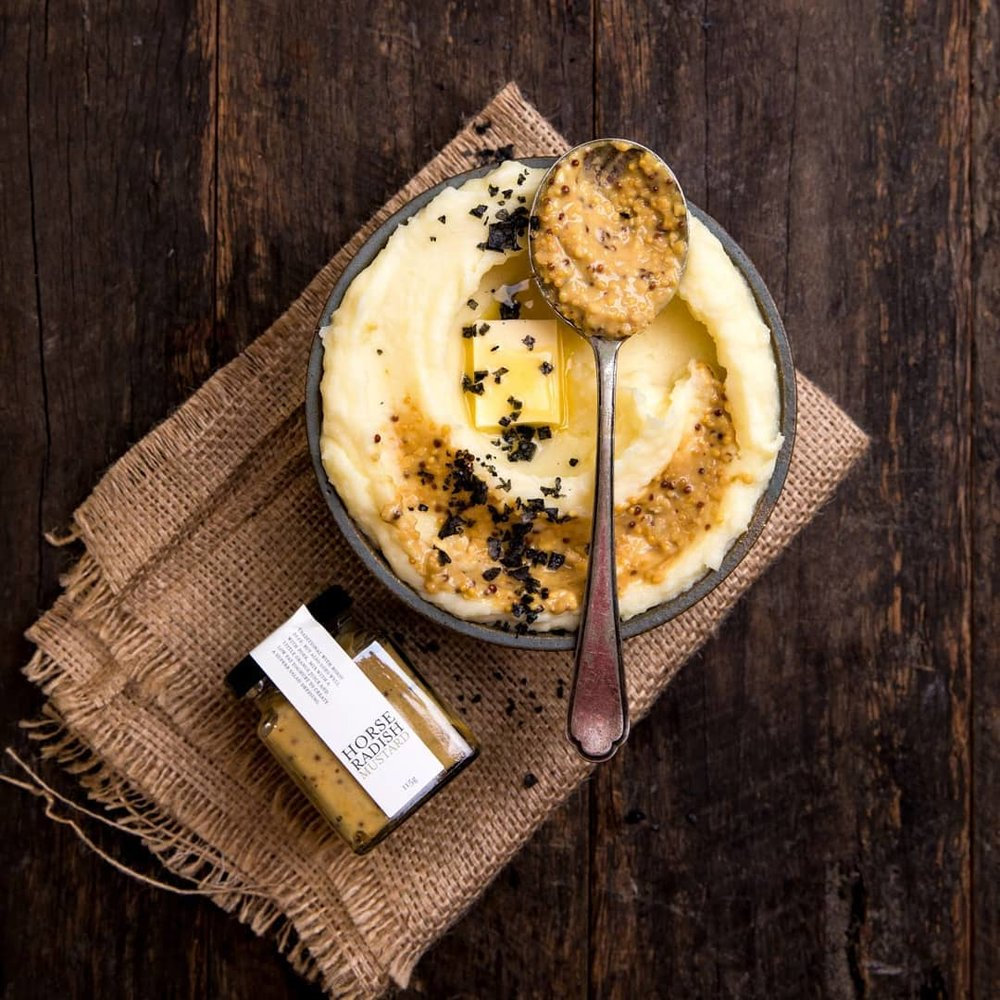 Go gourmet with  @yvgourmetfoods Horseradish Mustard.  Your mustard lovers will thank you!