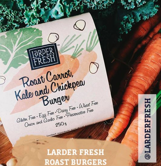 Jefferies Larder Fresh Roast Carrot Kale and Chickpea Burger.JPG