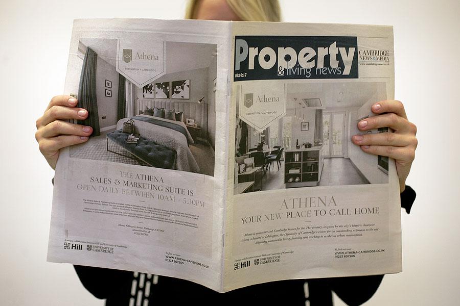 Athena newspaper advertising wrap