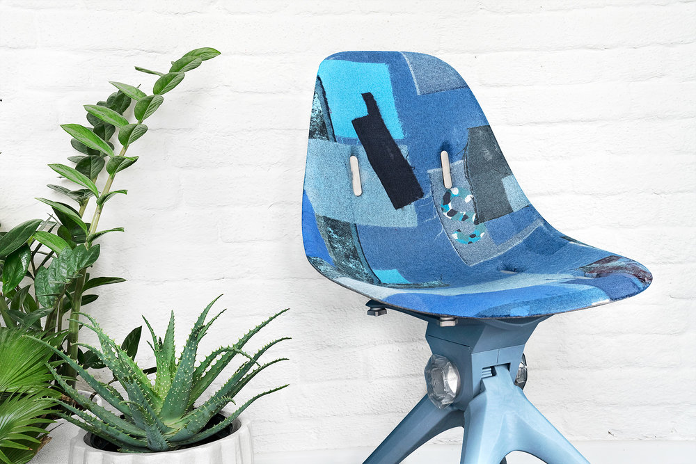 pentatonic airtool chair fabric new clothes blue