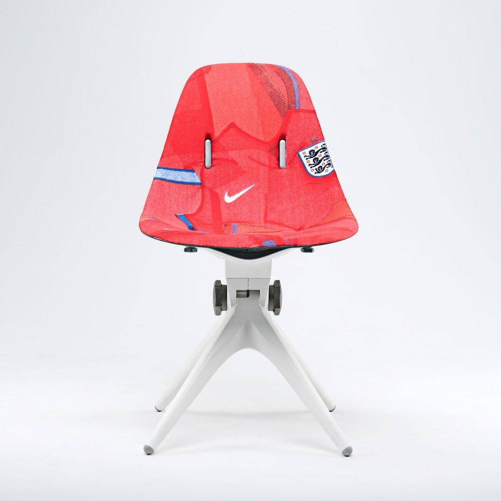 nike england custom chair