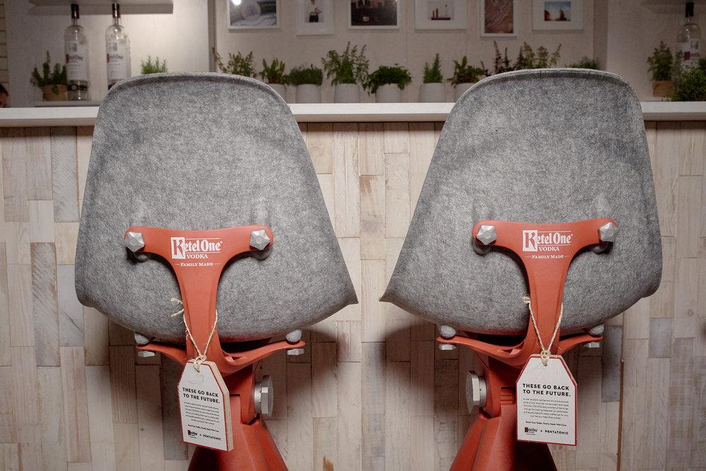 ketel one custom bar chairs