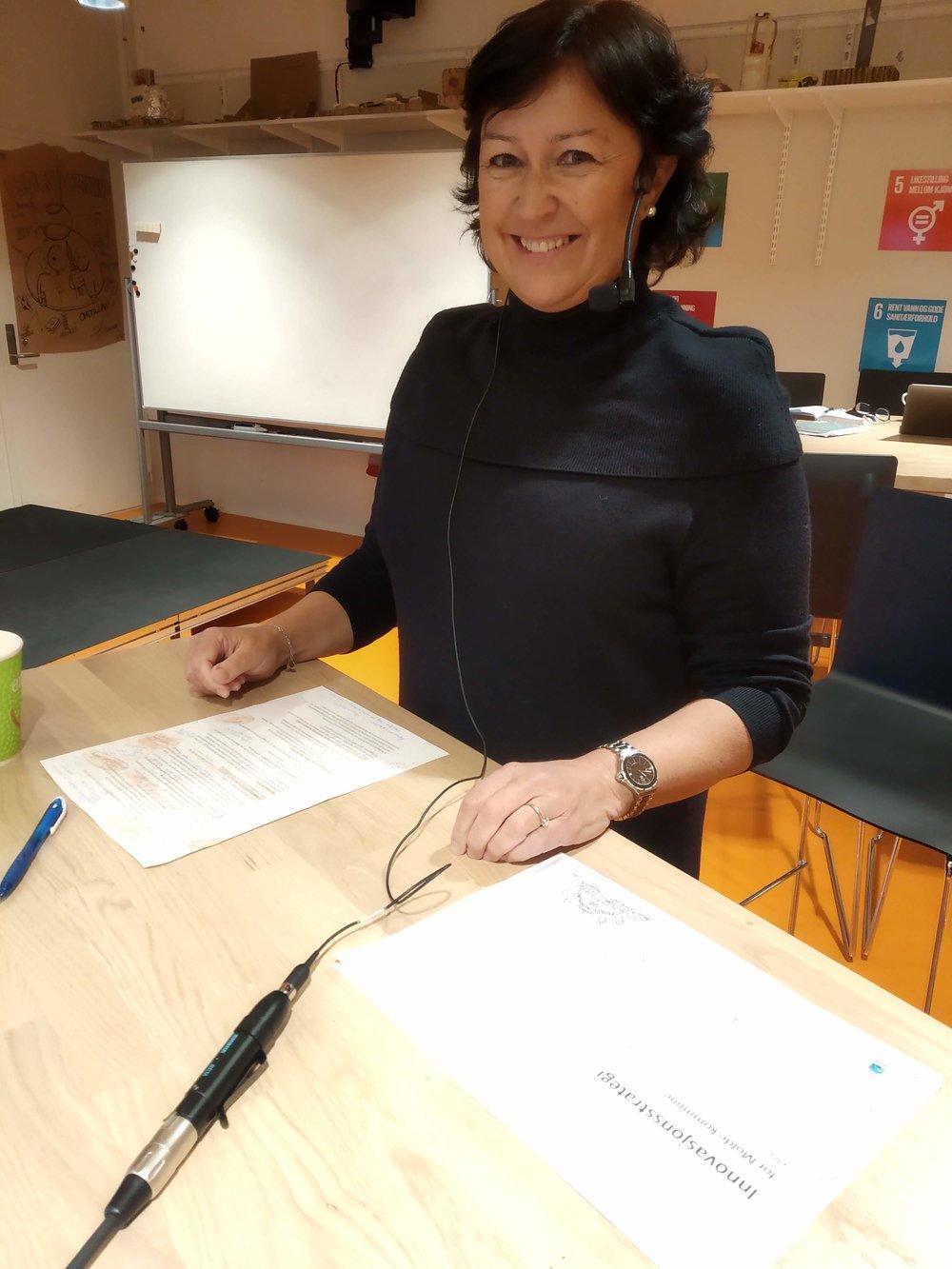 Innovasjonsstyring i offentlig sektor: Mette Holand, personal- og organisasjonssjef i Molde kommune, fortalte om hvordan kommuner kan være nyskapende og ikke bare ha fokus på drift og opprettholde eksisterende systemer.
