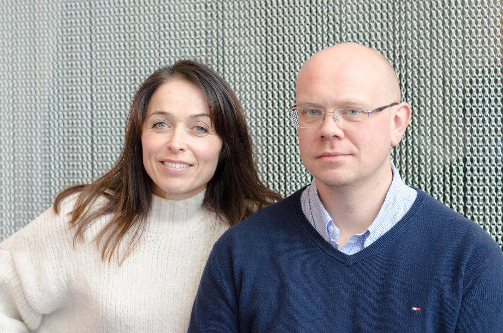 Liv-Hege Seglsten, CEO og Even Bringsdal, gründer og CTO i CreateView.