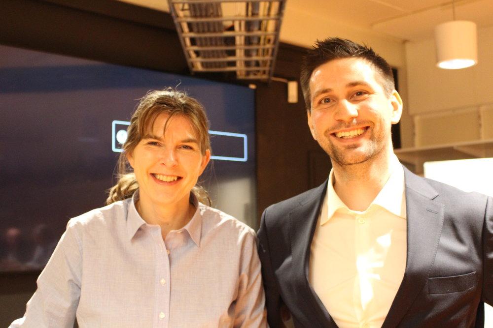 Hilde Aspås, daglig leder i NCE iKuben sammen med Anders Merckoll Helseth, seniorøkonom i Menon Economics.