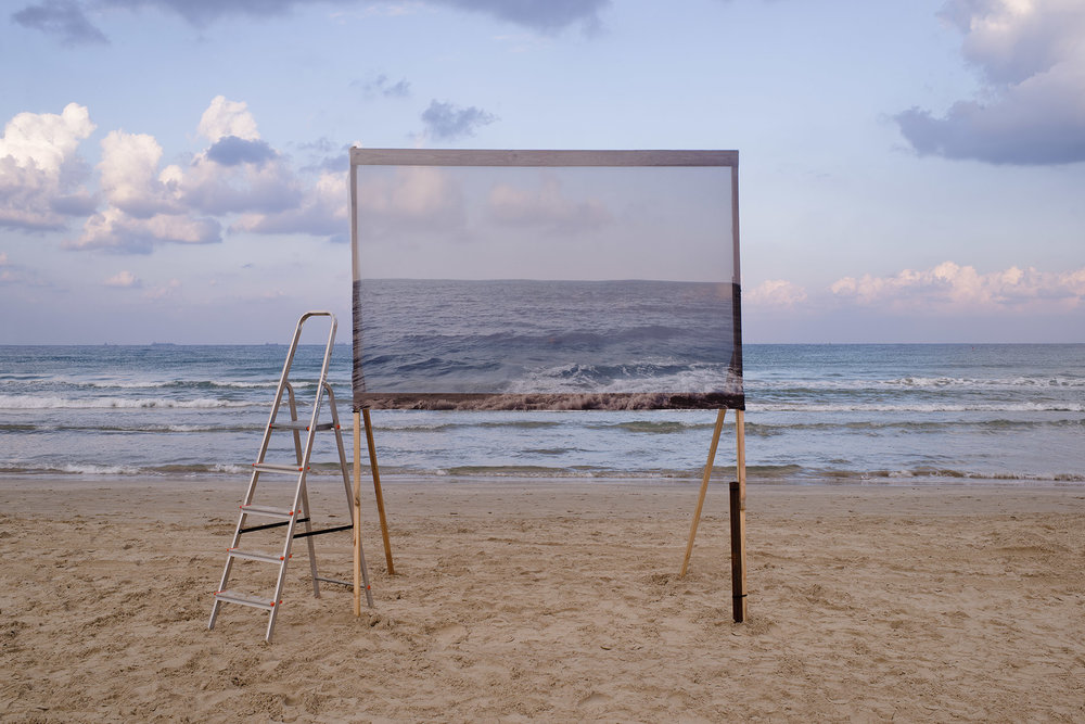 Untitled (sea and ladder), 2018