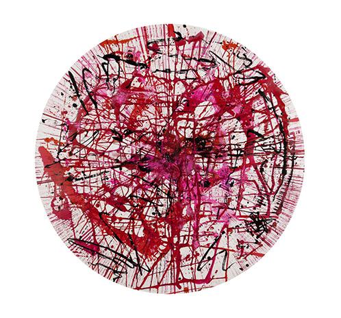 Circular Graffiti - red