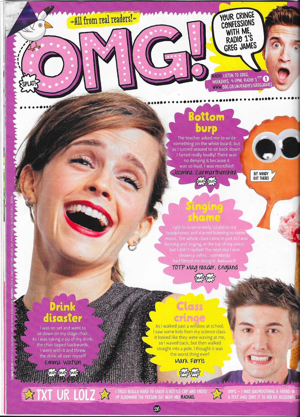Top of the Pops - OMG Cringe spread, page 1