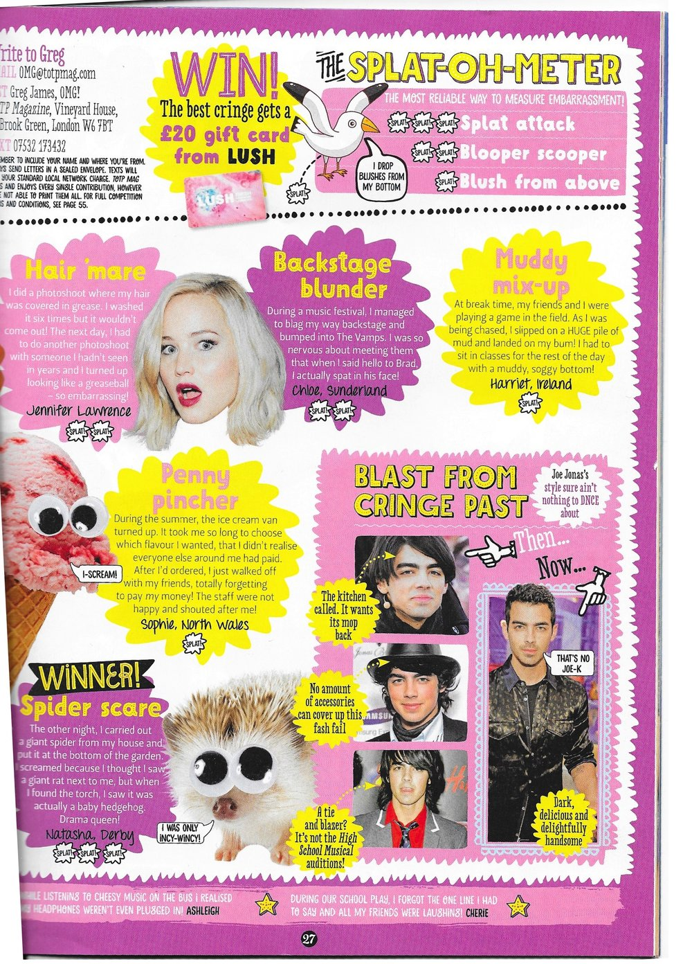 Top of the Pops - OMG Cringe spread, page 2