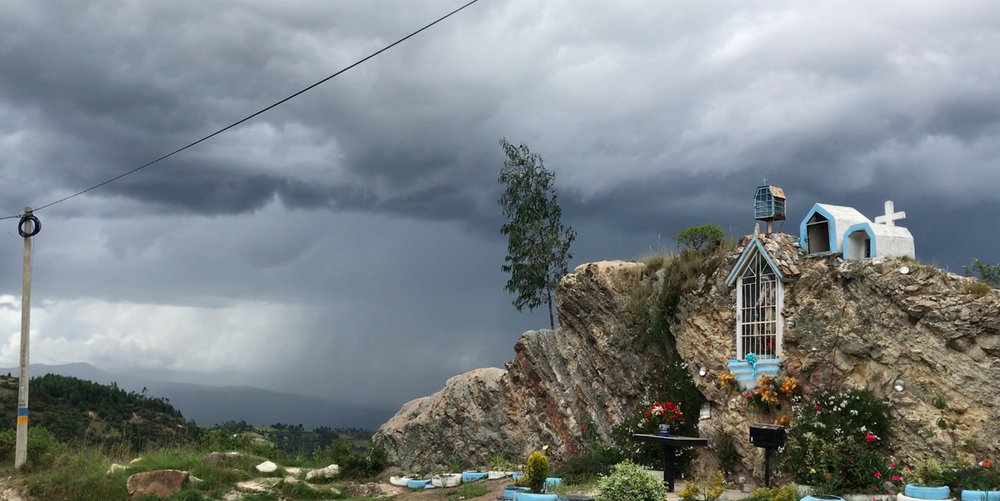 A storm is gathering in the Colombian highlands.