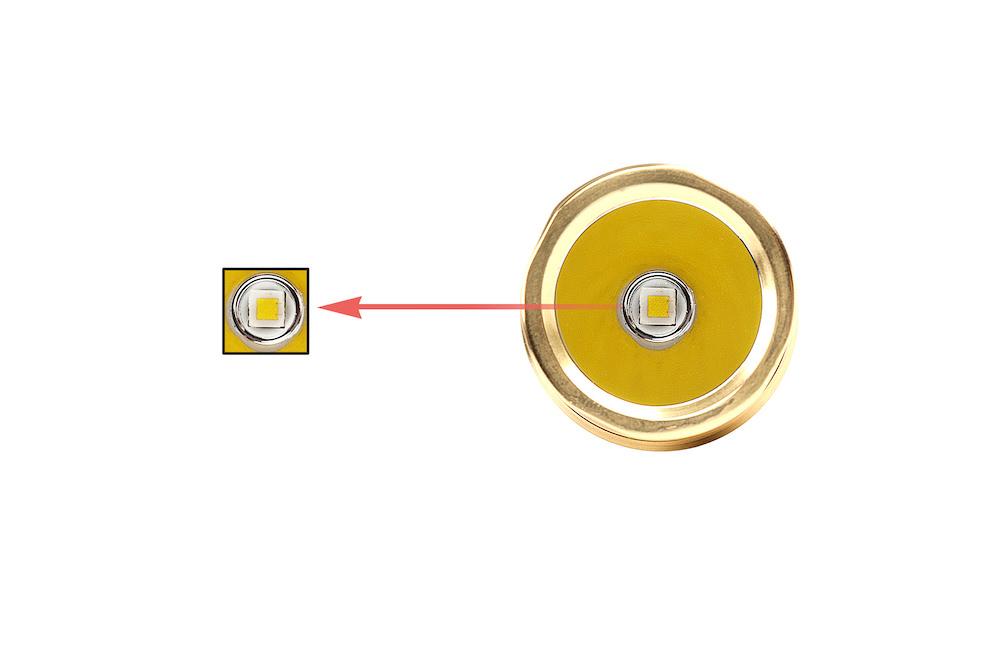 Led CREE XP-L - Un émetteur ultra performant capable de délivrer jusqu'à 200 lumens par watt ! L'EC35 Bronze est capable de performances lumineuses exceptionnelles dans un tout petit format