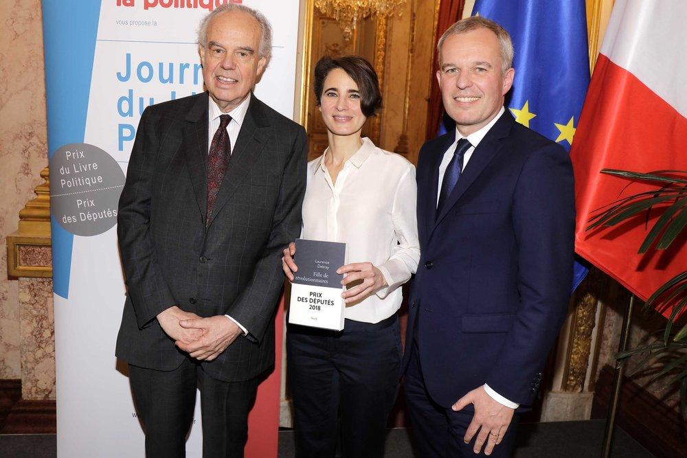 Frederic Mitterrand Francois de Rugy et Laurence Debray  02.JPG