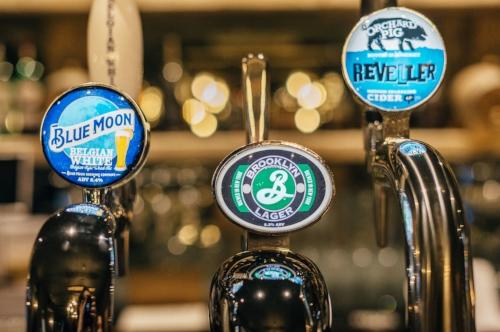 Great beers on tap at Van Winkle.
