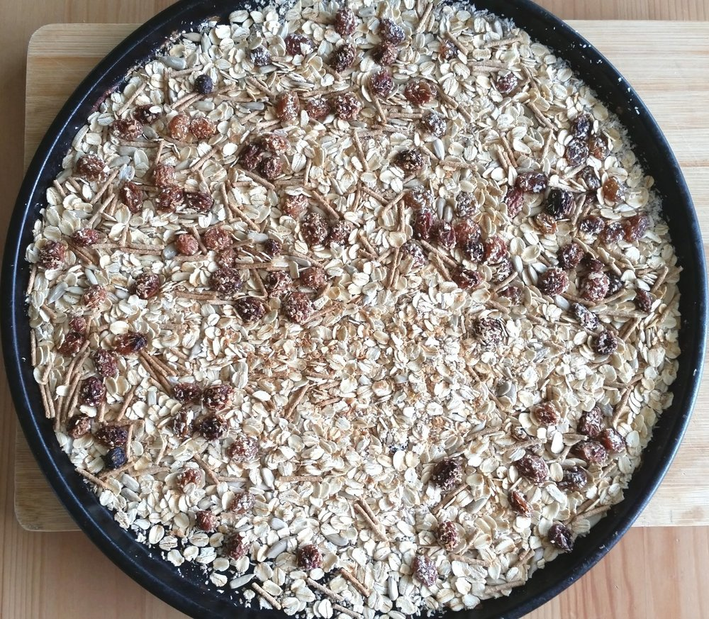 - Store bought muesli can often be higher in sugar than we realise. This muesli has no refined sugar and gets its sweetness solely from dried fruit.