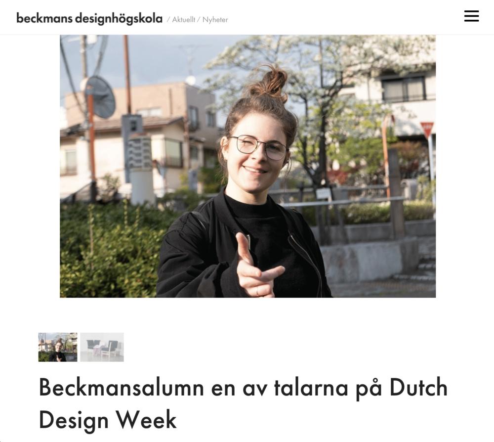 Beckmans / 2018