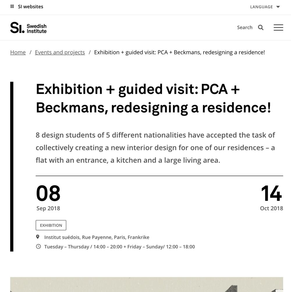 Svenska Institutet / 2018