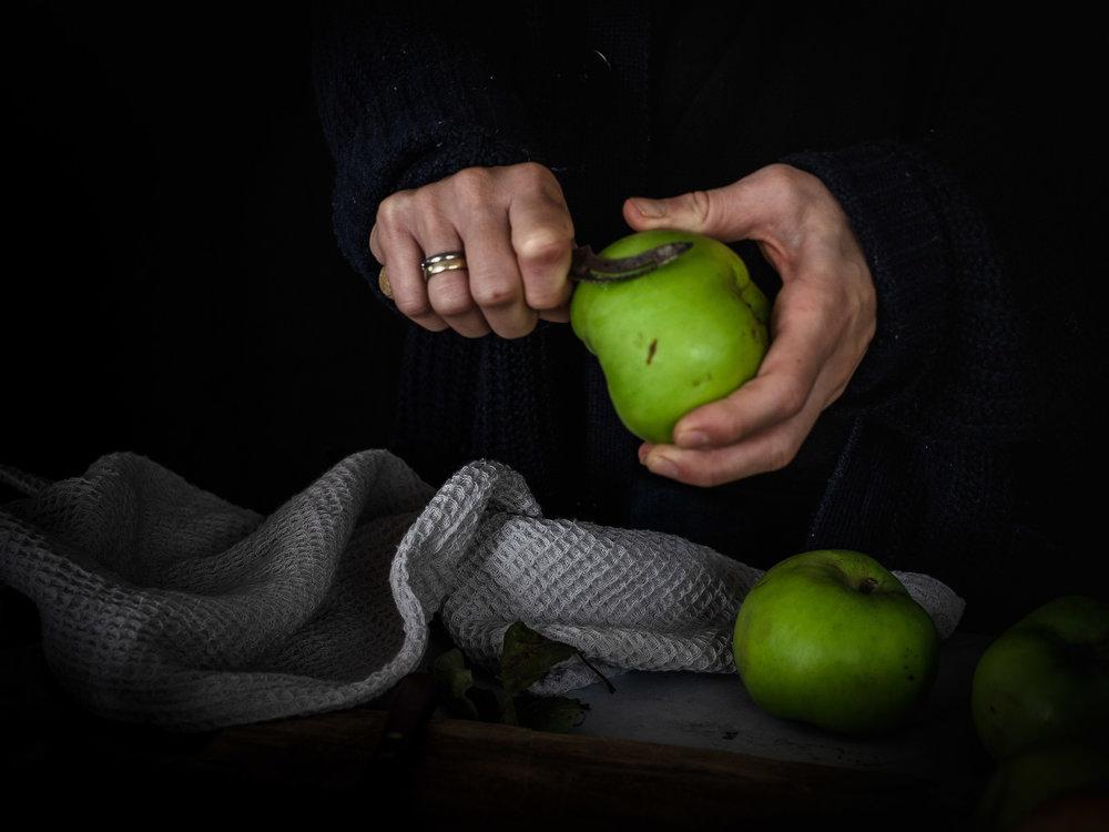 Äpfel Apfel Foodstyling Bildkomposition
