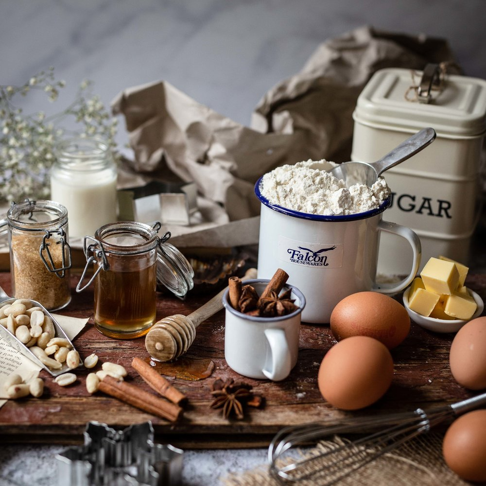 Mehl Ei Honig Food Fotografie