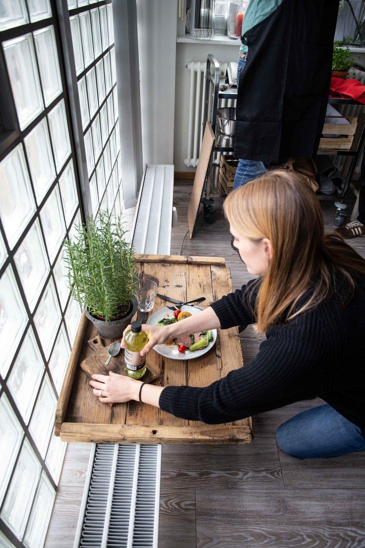 """Lotte im Einsatz bei einem Bloggerevent des """"House of Food"""" der Bauer Media Group"""