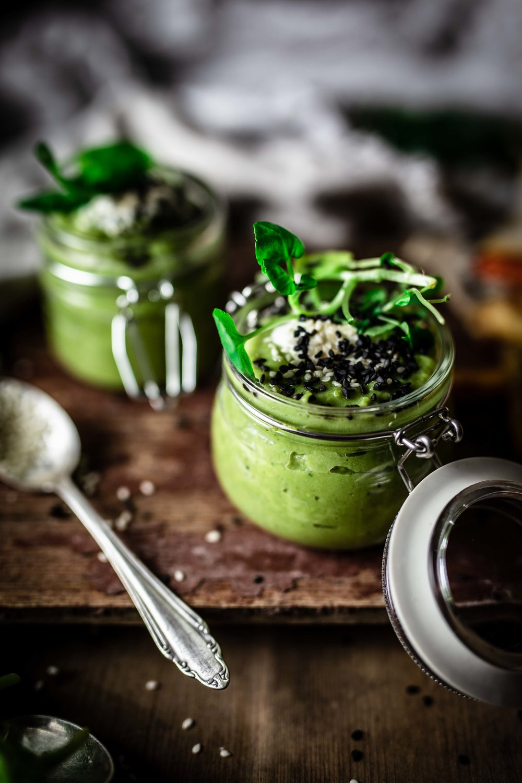 Erbsen Minz Suppe Foodstyling