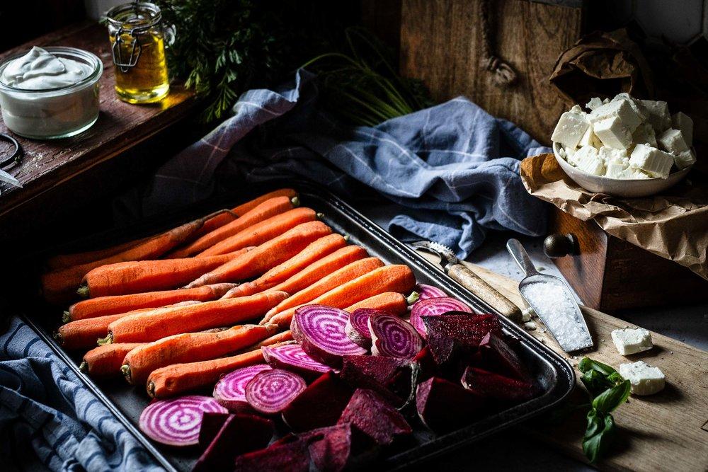 Das Gemüse ist fertig vorbereitet und muss nun nur noch in den Ofen.