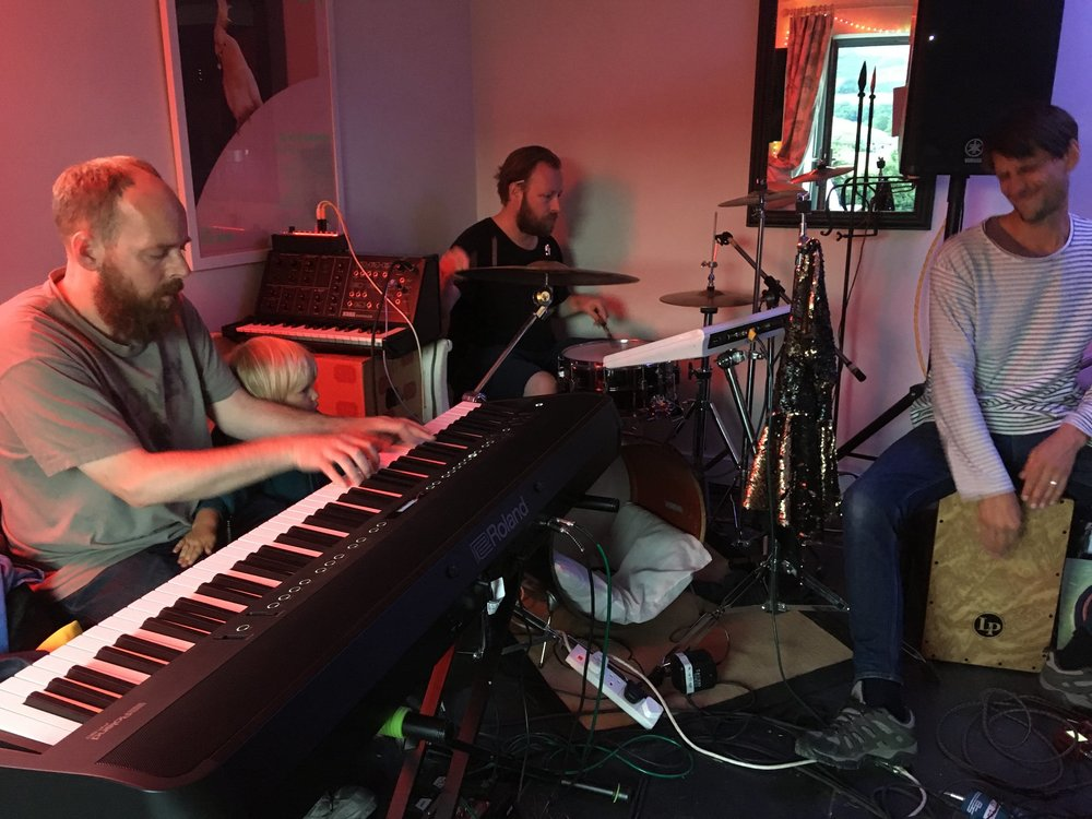 Left: Alex Marten, Red Dog Music & Co-founder of The Edinburgh Festival of Sound