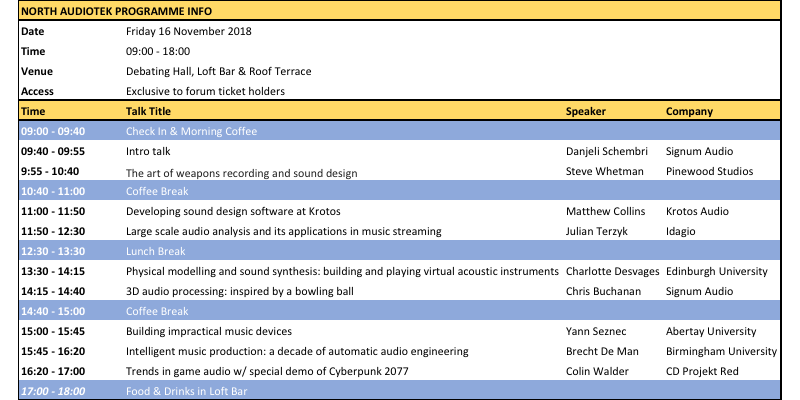 North AudioTEK Forum Overview.png