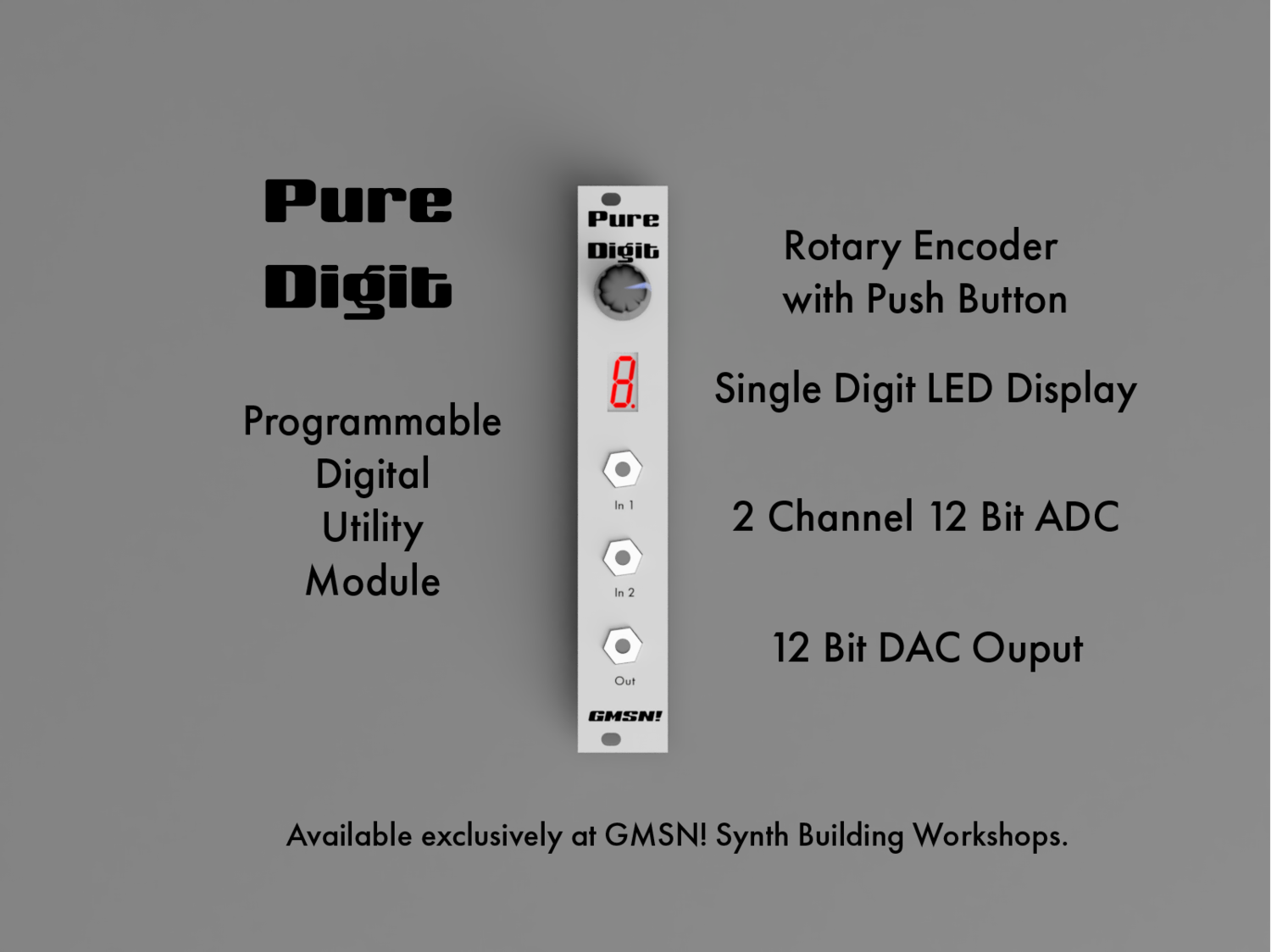 WORKSHOPS: GMSN! - Build & Programme Your Own Modular Synth — The