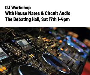 Try your hand a DJing on Saturday afternoon in The Debating Hall. Suitable for all ages and abilities!