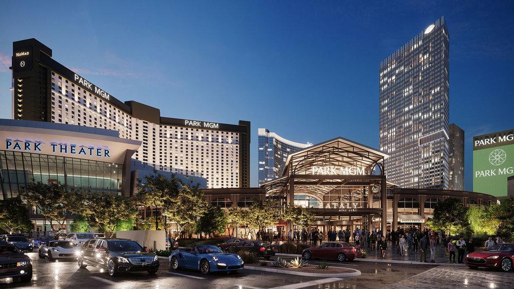 BOENDE - The Park MGM Hotel ****Hotell på resan är härliga Park MGM Hotel hotell som ligger i ett fantastiskt läge vid The Strip och med kort gångavstånd till T-Mobile Arena. Detta är ett klassiskt Vegas hotell (hette förr Monte Carlo Resort) med härligt poolområde, många bra restauranger och casino.