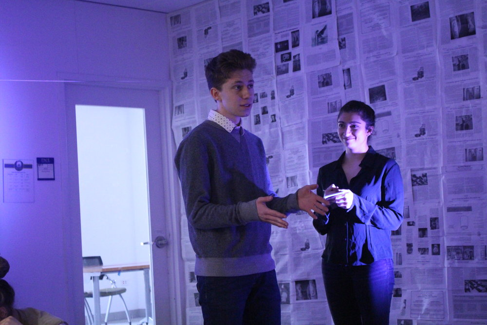 """(L to R) Austin Yoder and Sydney Rutigliano in """"The Untold Yippie Project"""" by Becca Schlossberg."""
