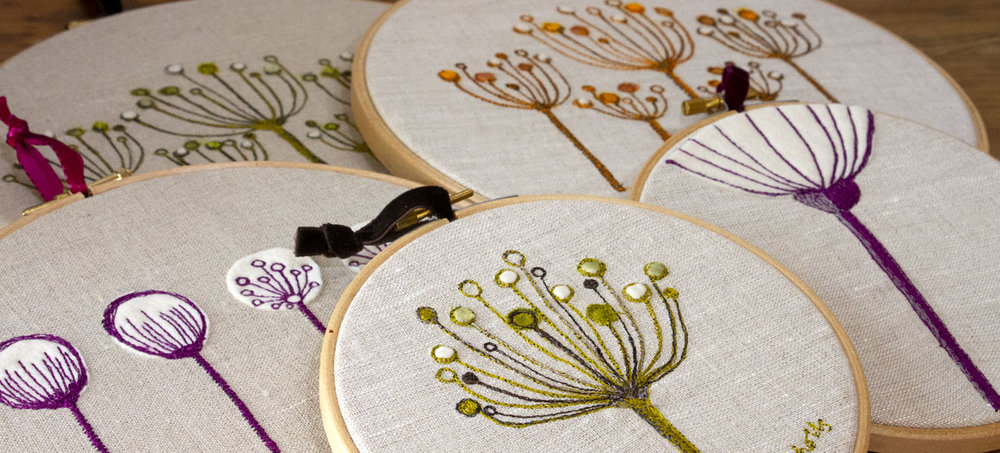 Seed Head Embroidery Pictures