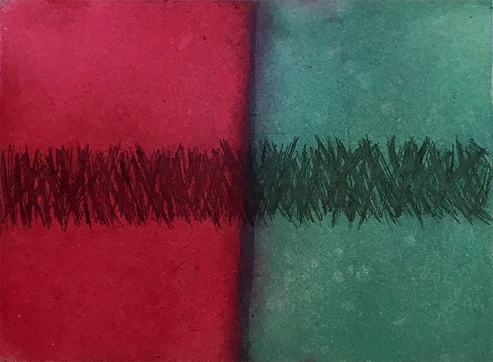 Colour play -  aquatint/etching