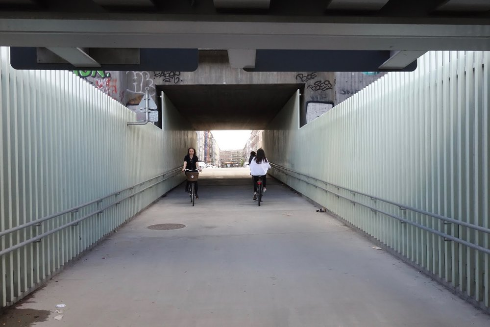 The underpass in Østerbro