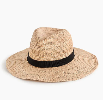 Straw Hat - Women are rocking the fedora and other straw hats all over the beach! It doubles as a cute accessory and a great sun blocker. This one from J.Crew will feel like a major upgrade from the big floppy styles that won't even fit in your suitcase!