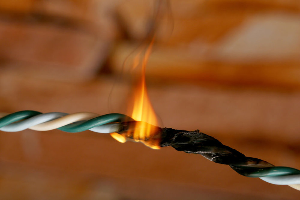 Electronics commonly combust due to overheated wires and and other complications, which can result in serious injury.